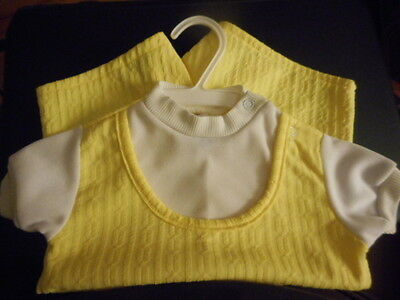 VINTAGE JELLY BEANS YELLOW ROMPER 24 MONTHS - Yellow Jelly Beans
