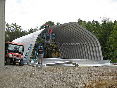 Steel Gambrel Arch 40x70x16 Construction Equipment Storage Building Kit A-series