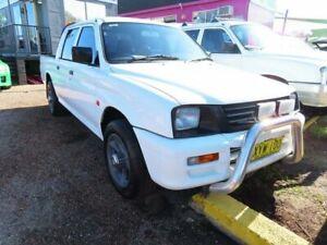 1998 Mitsubishi Triton MK GLX Double Cab 4x2 White 5 Speed Manual Utility Minchinbury Blacktown Area Preview