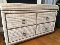 Custom-built chest of drawers / TV stand (TV included)