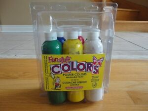 Pack of 6 poster paint bottles Assorted colours