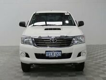 2013 Toyota Hilux KUN26R MY12 SR (4x4) White 5 Speed Manual Dual Cab Pick-up Jandakot Cockburn Area Preview