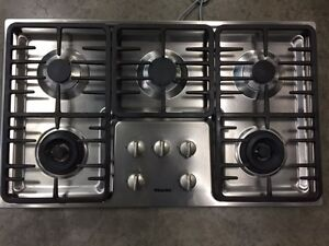 Miele 5 burner gas cooktop