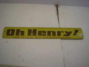 OLD SCHOOL TIN OH HENRY RULER