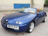 ALFA ROMEO SPIDER 2.0 JTS LUSSO * LOVELY LITTLE CLASSIC CONVERTIBLE*FULL SERVICE RECORD(11 STAMPS)