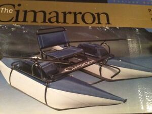 new 8' Cimarron Classic pontoon fishing boat with 6' oars