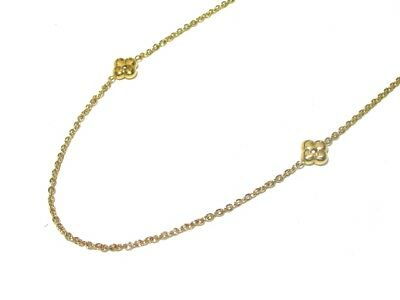 Auth LOUIS VUITTON Long Necklace Flower Full M68126 Monogram Hardware OB0195