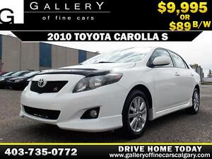 2010 Toyota Corolla S w/ Leather $89 bi-weekly APPLY NOW DRIVE N