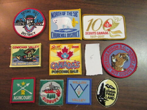 Canada Lot of 10 Different Patches    eb03  #5