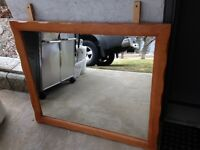 Free maple framed mirror