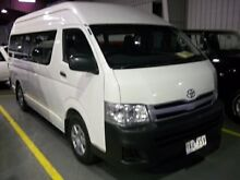 2010 Toyota Hiace KDH223R MY07 Upgrade White 4 Speed Automatic Cardiff Lake Macquarie Area Preview