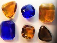 Vintage 1970's GLASS Stones