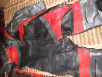 """Set of one piece Akito race leathers, big lad size 46 Chest, 5'9"""" to 6' Height, great for trackdays."""