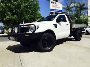 2012 Ford Ranger PX XL 3.2 (4x4) Cool White 6 Speed Manual Cab Chassis Beckenham Gosnells Area Preview