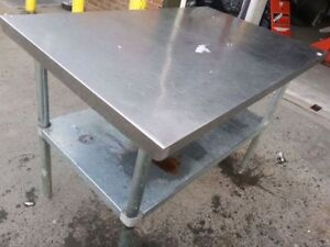 4ft Stainless steel work table.Study! Clean!USED!