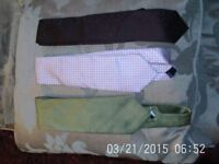 x3 Men's Designer Ties - Used, but in Excellent Condition