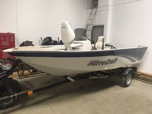 NEW 14FT MIRROCRAFT OUTFITTER WITH CONSOLE & TRAILER