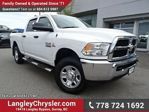 2015 RAM 3500 ST ACCIDENT FREE w/ 4X4, 6-SPEED MANUAL & REAR-...