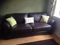Dark Brown Leather Sofa from Reid Furnishings