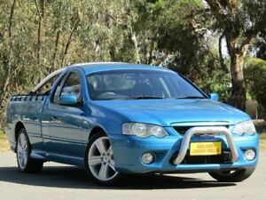 2007 Ford Falcon BF Mk II XR6 Ute Super Cab Blue 4 Speed Sports Automatic Utility