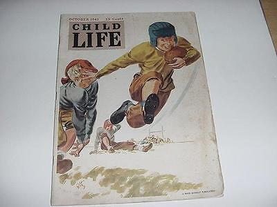 Halloween Games Kid (Vintage October 1941 HALLOWEEN CHILD LIFE Magazine w/Football Game in)