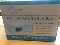 Manual Data Transfer Switch Box.