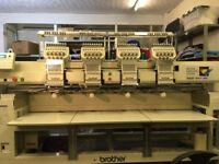 Brother 4 head embroidery machine