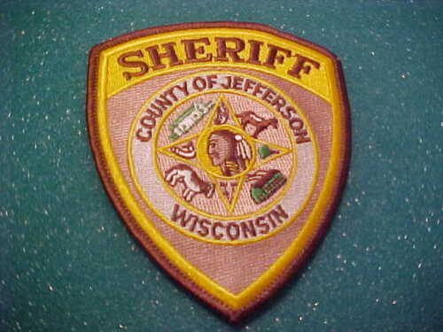 JEFFERSON COUNTY WISCONSIN POLICE PATCH SHOULDER SIZE UNUSED
