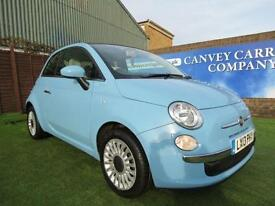 2013 Fiat 500 1.2 Lounge 3dr (start/stop) STUNNING EXAMPLE WITH
