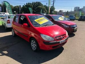 2005 Hyundai Getz TB MY06 SXI Red 5 Speed Manual Hatchback Lidcombe Auburn Area Preview