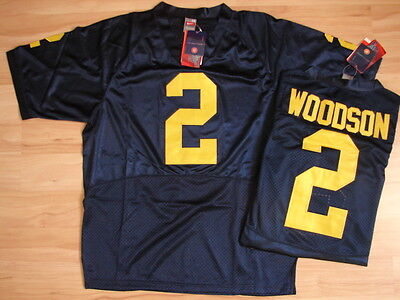 Authentic Blau Jersey (NCAA Trikot MICHIGAN WOLVERINES 2 Charles Woodson Authentic College Jersey navy)