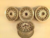 "RONAL IRMSCER 15"" 4x100 6.5j alloy wheels. Deep dish. not borbet bbs, ats, lenso, hartge, aez TM"