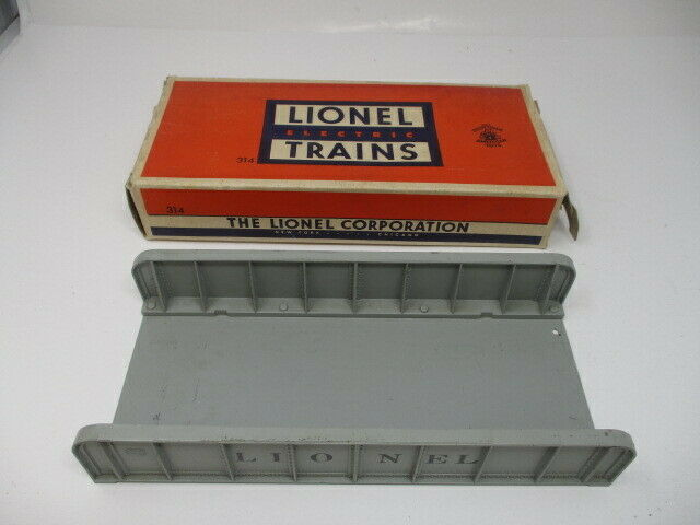 Vintage Post War Lionel Trains No. 314 Plate Girder Bridge - Gray   Original Box
