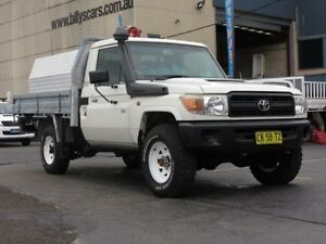 2009 Toyota Landcruiser VDJ79R Workmate (4x4) White 5 Speed Manual Cab Chassis Condell Park Bankstown Area Preview