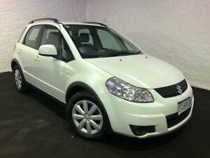 2011 Suzuki SX4 GYB MY10 White 6 Speed Constant Variable Hatchback Derwent Park Glenorchy Area Preview