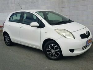 2008 Toyota Yaris NCP90R YR White Automatic Hatchback