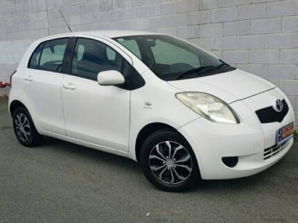 2008 Toyota Yaris NCP90R YR White Automatic Hatchback Underwood Logan Area Preview
