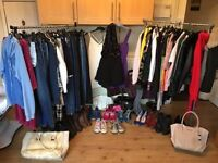 hundreds of womens clothing, shoes and bags for sale! all riverisland, topshop or zara sizes vary.