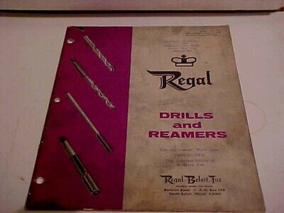 Vintage Catalog 1970 Regal Illinois Drills And Reamers No. 70-dr 44 Pages