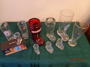 Das Boots & Beer Glasses:  All for $25! Great for the Man Cave!