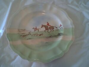 """Royal Doulton """"Across the Moor"""" Horse / Equestrian Plate 10 1/2"""""""