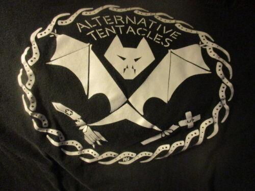 Original Black ALTERNATIVE TENTACLES Logo Shirt Small DEAD KENNEDYS Jello BIAFRA