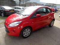 FORD KA 1.2 EDGE 3d 69 BHP £30 A YEAR ROAD TAX, 1 OW (red) 2013