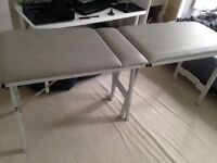 MASSAGE TABLE, sturdy, portable, head rest lifts