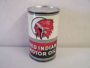 wanted looking for motor oil tin can red indian white rose