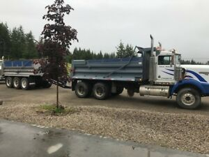 tandem dump truck and tandem pup