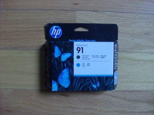10-2020 GENUINE HP #91 Matte Black/Cyan PRINTHEAD DESIGNJET Z6100 C9460A NEW