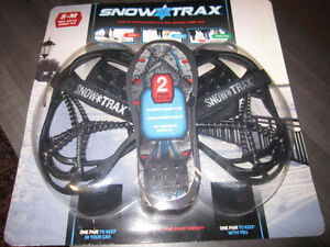 SNOWTRAX...ladies 5 - 9, men's 3.5 - 7.5, BN in 2-pack