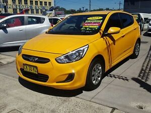 2015 Hyundai Accent RB2 Active Yellow 4 Speed Automatic Hatchback Five Dock Canada Bay Area Preview