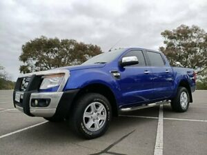 2013 Ford Ranger PX XLT Double Cab Blue 6 Speed Manual Utility Enfield Port Adelaide Area Preview